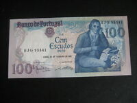 PORTUGAL 1980-89 ISSUE - 100 ESCUDOS - 24 February 1981 P178b -  SIG VARIETY UNC