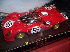 HOT WHEELS ELITE-T6259 FERRARI 512 S 1000KMS OF NURBURGRING  #55 RARE 1/18 NIB