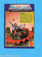 TOP985-PUBBLICITA'/ADVERTISING-1985- MATTEL MASTERS - SKELETOR SU ROTON