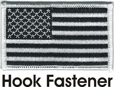 Urban Black White United States US Flag Patch VELCRO® BRAND Fastener Compatible