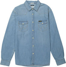 Wrangler Western Denim Shirt Light Indigo m