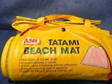 VINTAGE ANTIQUE RETRO ASI Tatami beach mat with 2 inflatable pillows USED