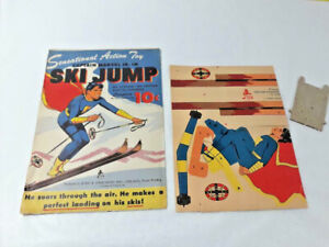 Captain Marvel Jr. Ski Jump Cardboard Cutout Toy Reed & Associates ~ Ships FREE