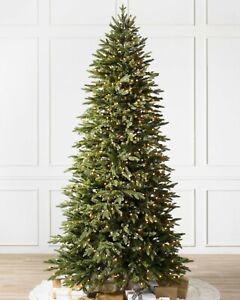 Balsam Hill 7ft Silverado Slim Candlelight Clear LED Christmas Tree