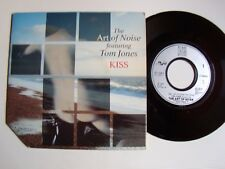 "THE ART OF NOISE featuring TOM JONES : Kiss (Prince) 7"" 45T 1988 CHINA 871 038 7"