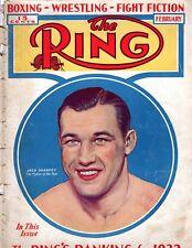 The RING February 1933 Jack Sharkey BOXING WRESTLING Vintage Magazine
