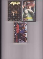 Anthrax- 3 1980's Hard Rock Cassette Tapes-I'm The Man/The Living/Spread Disease