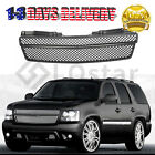 Glossy Black Mesh Front Bumper Grille For 07-14 Chevy Tahoesuburbanavalanche