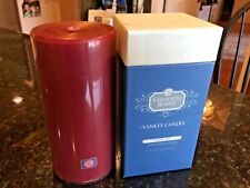"""YANKEE CANDLE CHANDLER'S RESERVE Warm Red Unscented Pillar Candle, 2.8"""" x 6"""" NEW"""