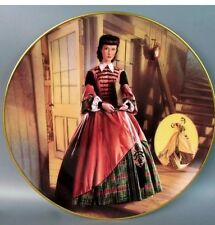 GONE WITH THE WIND PLATE 1993 COSTUMING OF A LEGEND BRADFORD EXCHANGE COLLECTION