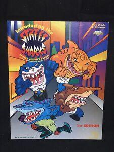 Street Sharks Diamond Sticker Book - NEW, UNUSED - Street Wise Design - Vintage