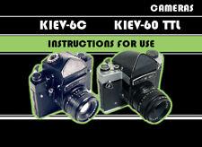 ENGLISH GUIDE MANUAL for KIEV-6C / KIEV-60 TTL cameras INSTRUCTION BOOKLET