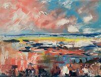 Oil Painting IMPRESSIONISM SEASCAPE Sea Ocean CLOUDS Landscape Modern Texture