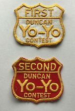 2 Duncan Yo-Yo Contest Patches First + Second Excellent. Condition FREE SHIPPING