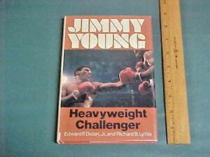 JIMMY YOUNG Heavyweight Challenger RARE 1979 1st. Edition Boxing Book HC w/ DJ !