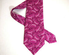 Tom Ford Mens Necktie Tie Purple White Paisley 7 Fold 100% Silk 60""