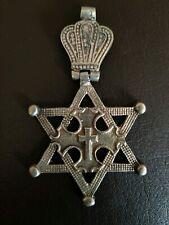 Ethiopian Hinged Star Of David Cross Pendant Rastafarian Necklace Rasta