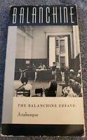 The Balinchine Essays: Arabesque RARE VHS-Ashley/Schorer/Edwards/Fason/Metzger