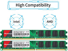 2 Pack 2GB DDR2 800 Udimm RAM Kuesuny PC2-6400/PC2-6400U 1.8V CL6 240 Pin