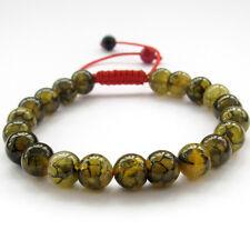 Dragon Skin Agate Gem Tibet Buddhist Prayer Beads Mala Bracelet