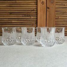 SET of 6X Vintage 'CRISTAL D'ARQUES' Longchamp CRYSTAL Shot SCHNAPPS Glasses