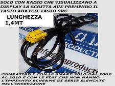 Línea En Mp3 SMART Fortwo 07-10 AUX cable SOLAMENTE AUDIO MP3 IPHONE GALAXY S