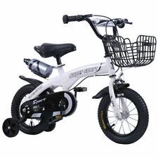 Weiß Kinderfahrrad Jungen Mädchenfahrrad Kinderrad Fahrrad Stützräder mit Korb