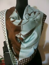 "NEW POLLINI 100% SILK SCARF 34""x 34""  MADE IN ITALY"
