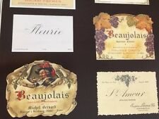 Beaujolais Wine Labels : Poster
