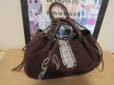 Auth DOLCE&GABBANA BROWN SUEDE/LEATHER BAG MADE IN ITALY-EXCELLENT CONDITION