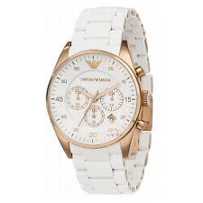 Mens Emporio Armani AR5919 White SPORTIVO Chronograph Watch