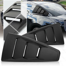 Black 1/4 Quarter Side Window Louvers Scoop Cover Vent for 05-14 Ford Mustang