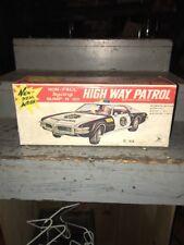 NOS Vintage Tin  Taiwan High Way Patrol Police Car 1960s BOX ONLY