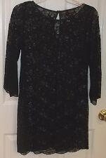 LAUNDRY~Little BLACK LACE Mini DRESS~size 4~NEW~Dressy SEXY Shift Short Cocktail