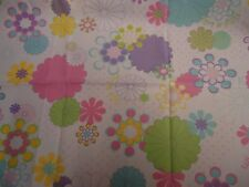 RETRO LILLY & LOLLY PINK,BLUE,YELLOW,PURPLE FLORAL Fabric Remnant ( 55cm x 38cm)