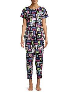 Secret Treasures Women's Short Sleeve Pajama Set 3XL (22-24W) Love Naps NEW
