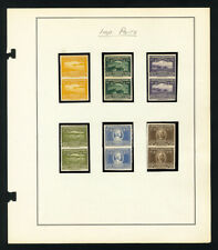 Panama Stamps 1939 Set of 6 Proof Pairs