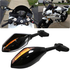 Arrow LED Turn Signals Racing Side Mirrors For Yamaha FZR 1000 YZF600 R6 FZ6R US