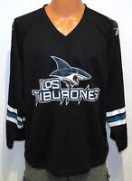 LOS TIBURONES San Jose Sharks JERSEY MED black nhl promo rare