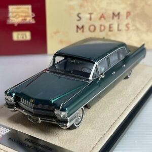 1/43 GLM Stamp Cadillac Fleetwood 75 Limousine 1964 Nile Green Metallic STM64102