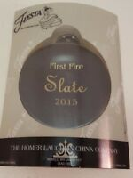 Fiestaware Slate Ornament First Fire Fiesta Dark Grey Christmas Ornament