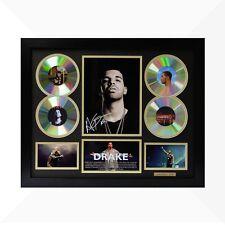 Drake Signed & Framed Memorabilia - 4 CD - Black/Gold Limited Edition