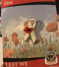 White Ribbon Poppy * REMEMBRANCE DAY * ANZAC DAY