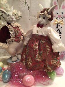 "English Manor Mr & Mrs Rabbit Dolls 14"" VINTAGE ANNALEE"