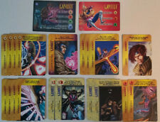 Marvel Overpower CCG Gambit Full Set 2 Hero + All Specials 21 Card Lot
