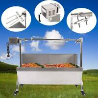Large Pig Spit Roaster Rotisserie Lamb Roast BBQ Grill Portable Outdoor Picnic