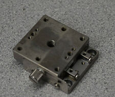 Optosigma 122 1160 Stainless Steel Extended Contact Stage 40mm Dim 12mm Travel