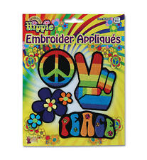 Hippy Patches Badges 70S Hippy Hippie Retro Austin Powers Peace Fancy Dress