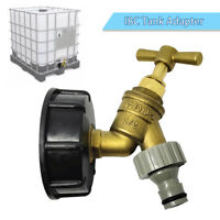 IBC Tank adapter S60X6 to brass garden tap with snap on connector Oil Fuel water