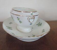 Antique 19th c. Sprig Old Paris Porcelain Sauce Tureen Urn 1800 Cornflower Nast
